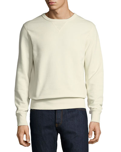 Solid Knit Cotton Sweatshirt