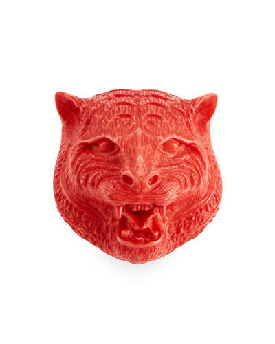 Feline Head Resin Brooch