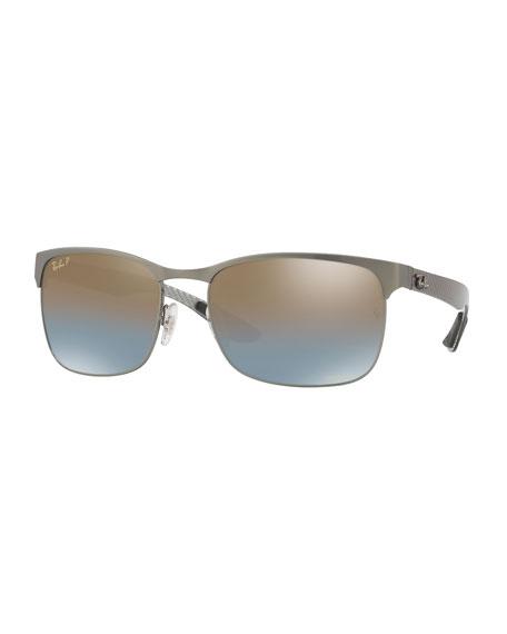 Half-Rim Polarized Sunglasses