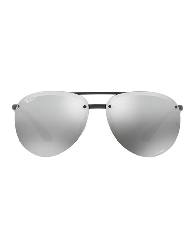Rimless Mirrored Polarized Sunglasses