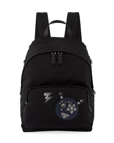 Men's Nylon Robot Backpack
