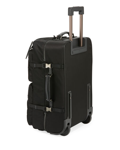 Tessuto-Trim Nylon Trolley Suitcase Luggage