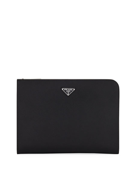 Saffiano Leather Portfolio Case