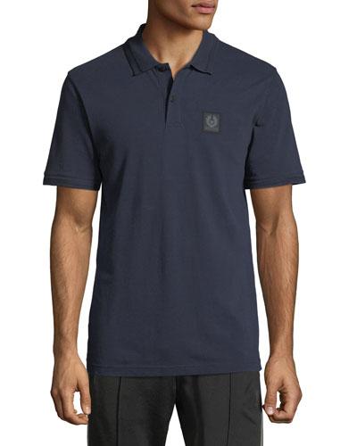 Piqué-Knit Polo Shirt