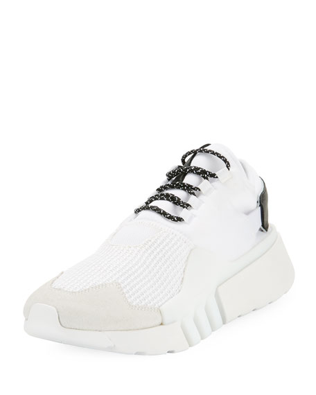 454ae5b92 Y-3 Men s Ayero Leather   Mesh Sneakers