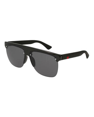 Square Half-Frame Sunglasses