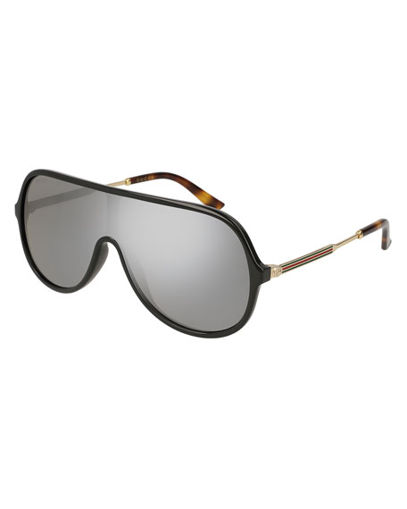 Gucci Injected Metal Mirrored Aviator Sunglasses