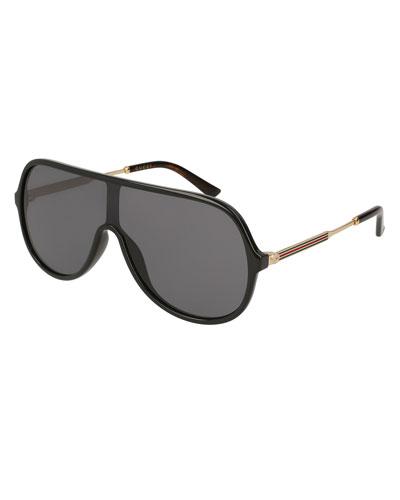 Injected Metal Aviator Sunglasses