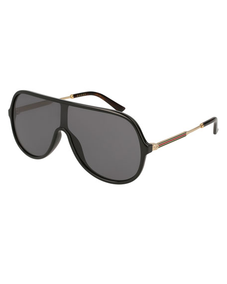 Gucci Injected Metal Aviator Sunglasses
