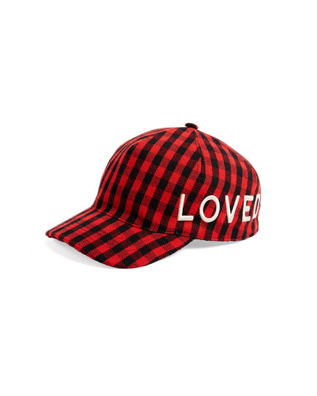 Loved Check Flannel Baseball Hat