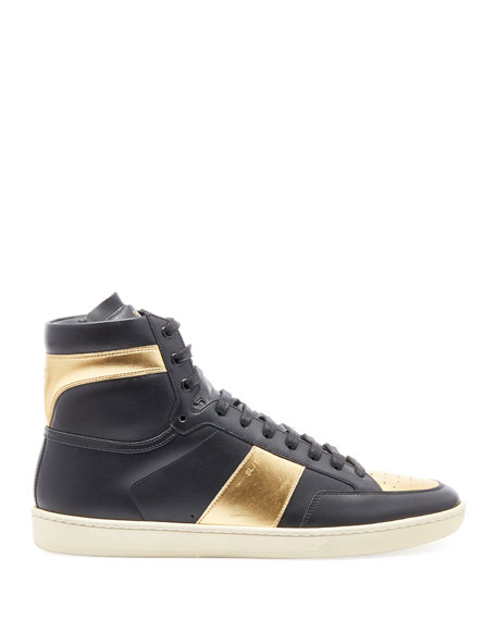 Men's Metallic High-Top Sneakers