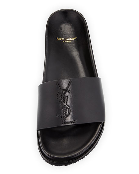 3c4b752e373 Saint Laurent Men s Jimmy 20 YSL Slide Sandal