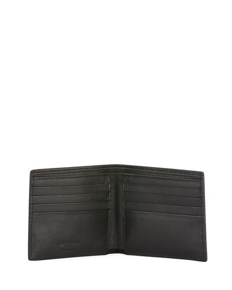Men's Croc-Embossed Leather Wallet