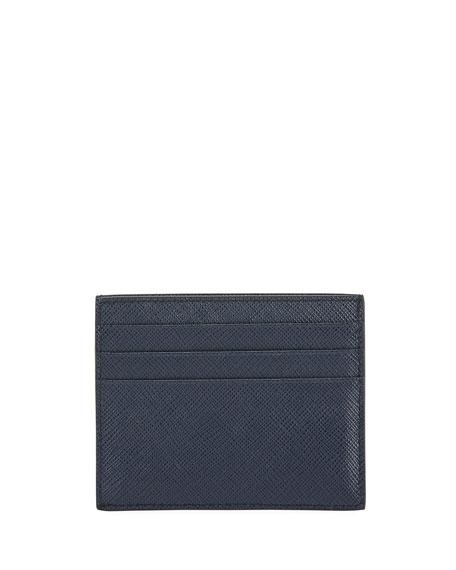 Fragment Croc-Embossed Zip Card Case