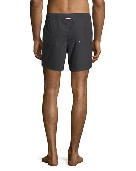Men's Classic Drawstring Seersucker Swim Trunks
