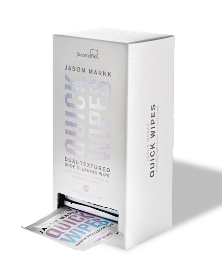 Jason Markk Dual-Textured Shoe-Cleaning Wipes, 30 Pack