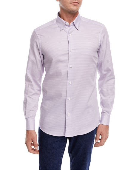 Small Dot-Print Sport Shirt