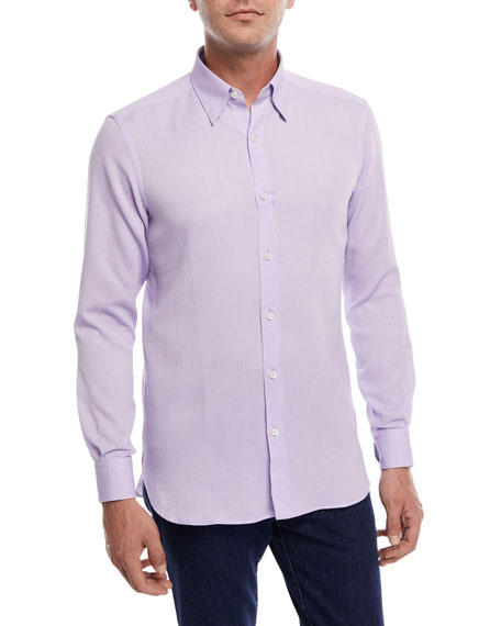Piqu&#233 Cotton Sport Shirt