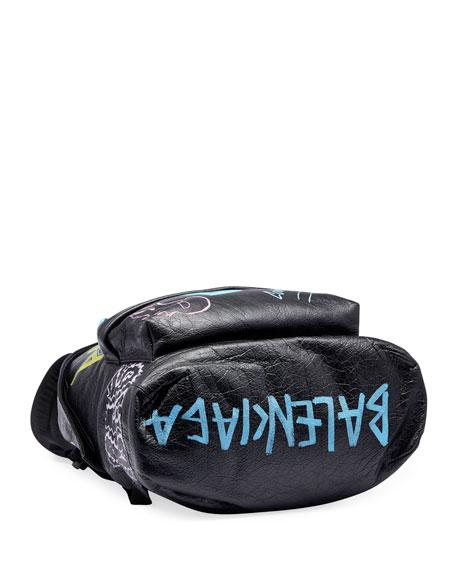 Men's Graffiti Leather Backpack