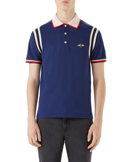 fcf4aa276481 Gucci Bee-Embroidered Polo Shirt