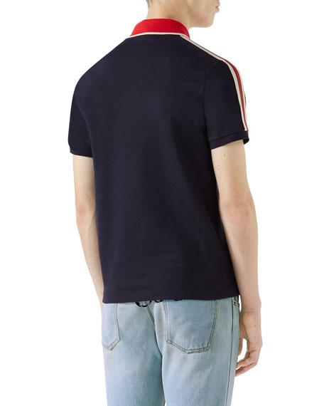 8502e1969ac6f8 Gucci Contrast-Trim Polo Shirt