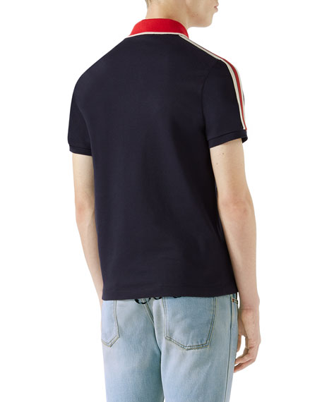 5384aef53ead Gucci Contrast-Trim Polo Shirt