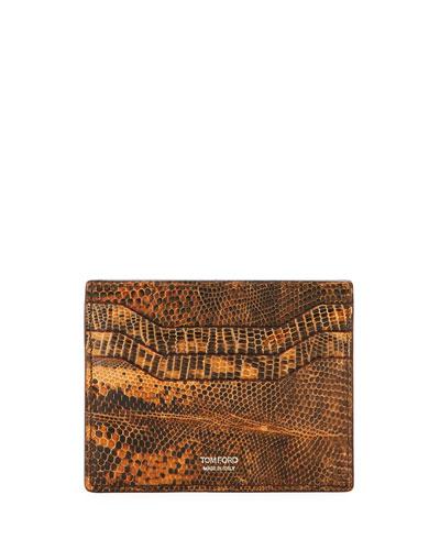 Lizard Leather Card Case