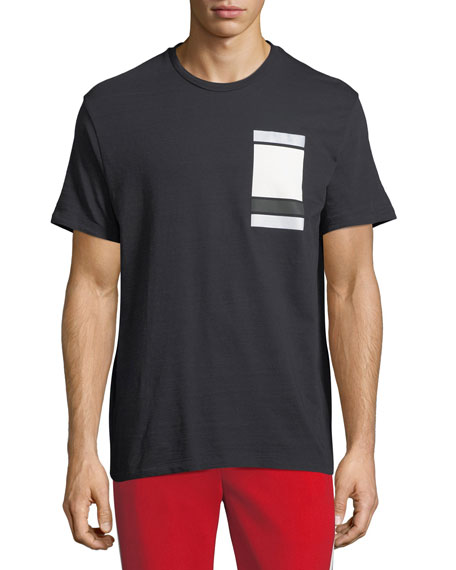 Neil Barrett  MINIMALIST CUBES COTTON T-SHIRT