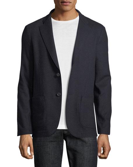 Sweater-Knit Jersey Blazer