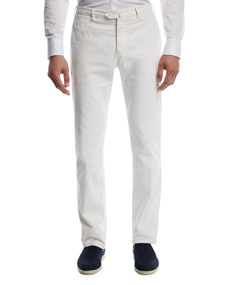 Comfort Slim-Stretch Cotton Trousers
