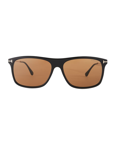 Max Rectangular Sunglasses, Black