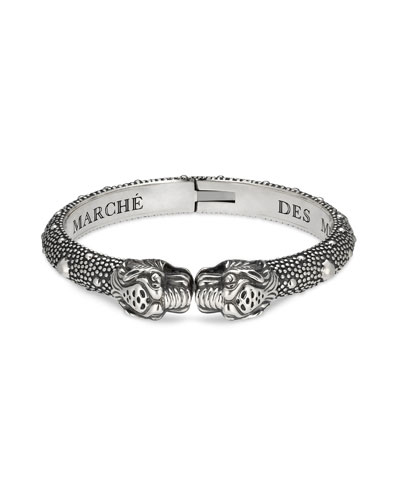 Men's Tiger Head Cuff Bracelet