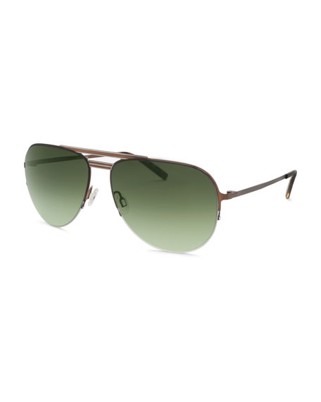 Arris Half-Rim Aviator Sunglasses