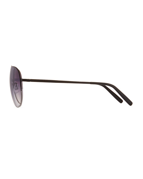 Men's Arris Half-Rim Aviator Sunglasses