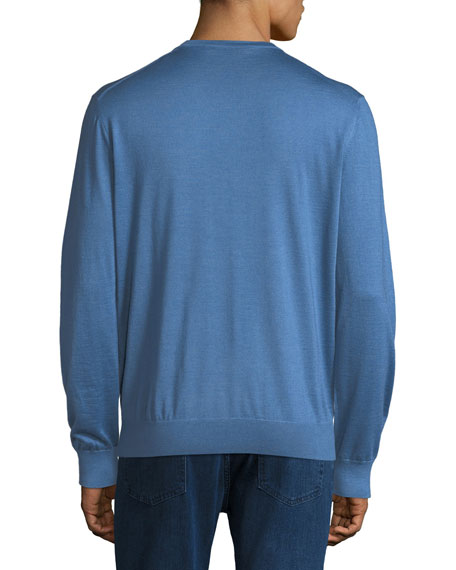 V-Neck Cashmere-Silk Sweater
