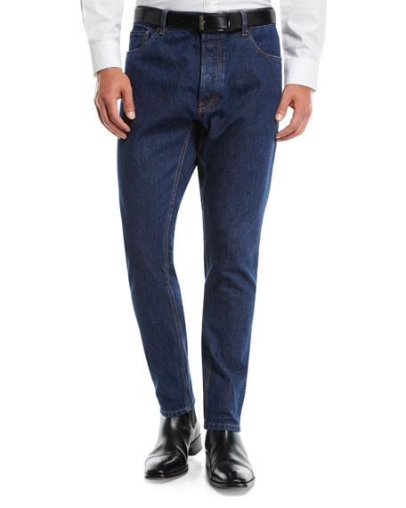 Prada Men's New-Fit Tapered-Leg Denim Pants