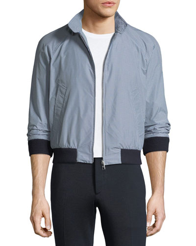 Mini Check Zip-Front Jacket