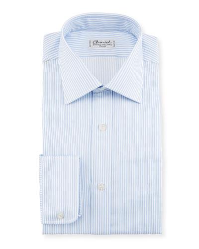 Striped Dress Shirt  White/Blue