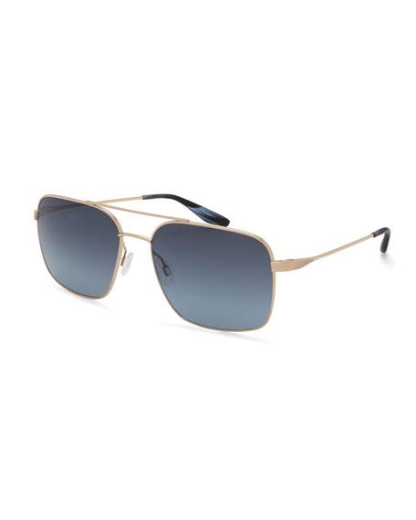 Barton Perreira Men's Volair Square Metal Sunglasses