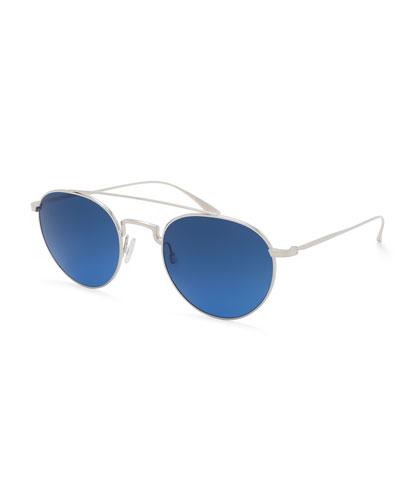 Vashon Round Aviator Sunglasses