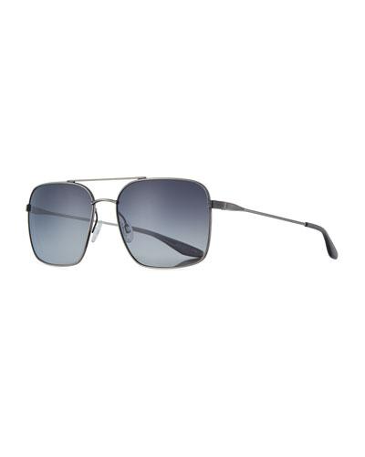 Metal Squared Aviator Sunglasses