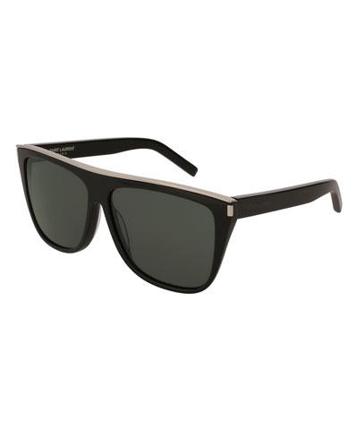 Flat Top Acetate Sunglasses