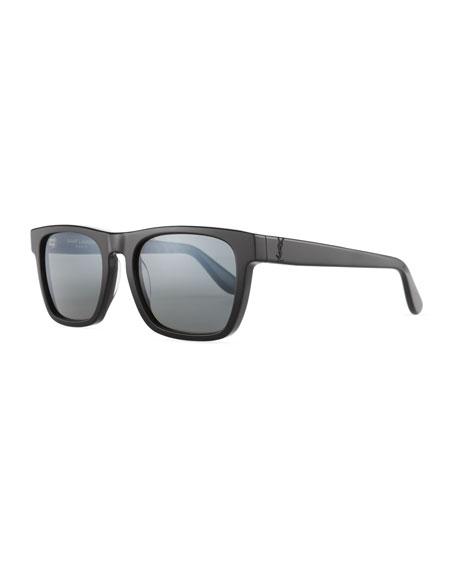 Thick, Square Acetate Sunglasses