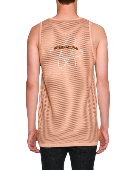 Logo-Graphic Mesh Tank