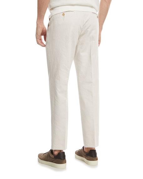 Chino Flat-Front Pants