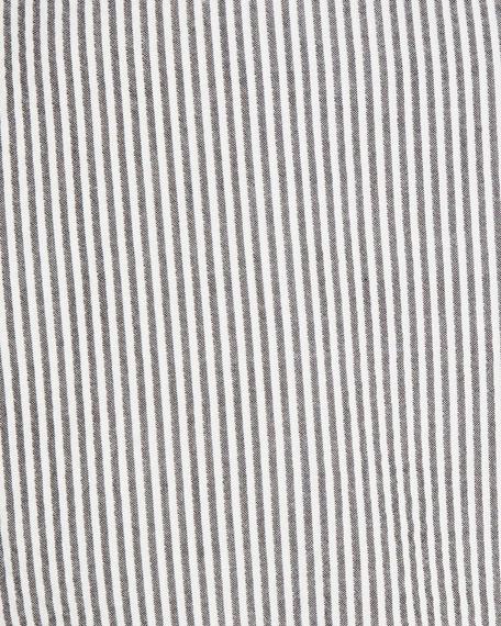 Striped Seersucker Two-Button Blazer