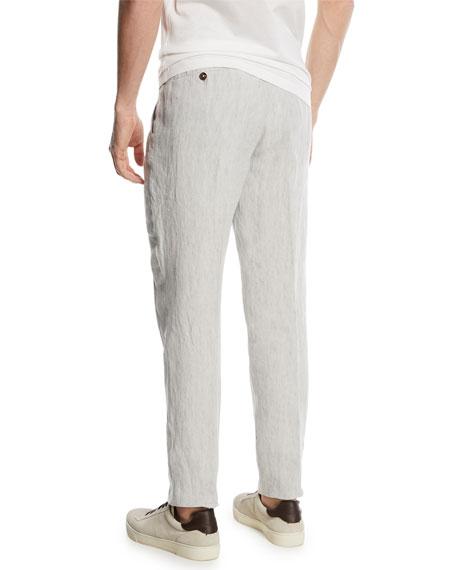 Drawstring-Waist Linen Pants
