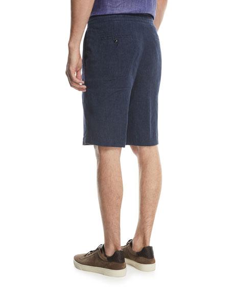 Linen Straight-Leg Shorts