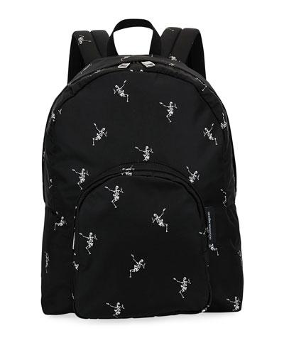 Men's Small Skeleton-Print Backpack
