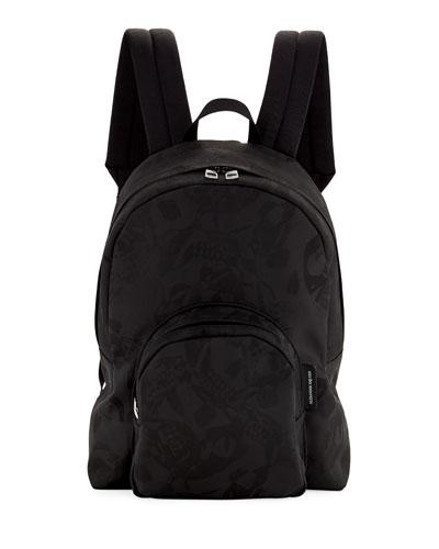 Men's Small Jacquard Backpack